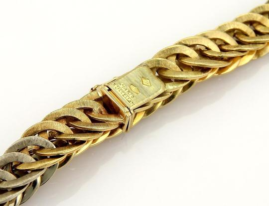 BUCCELLATI Braided 18k Two Tone Gold Curb Link Necklace 131 gr Image 3