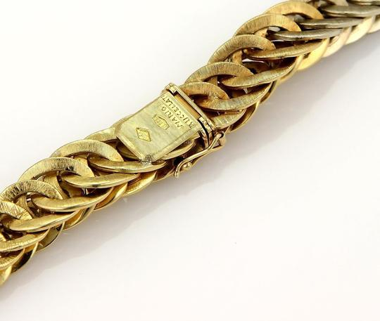 BUCCELLATI Braided 18k Two Tone Gold Curb Link Necklace 131 gr Image 6