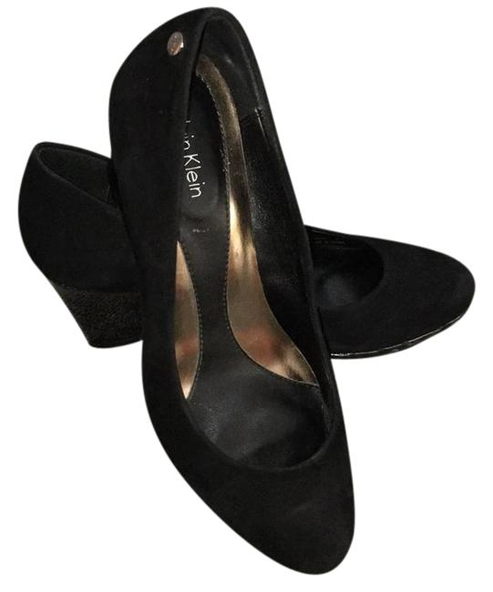 Calvin Klein Black Wedges Size US 5.5 Narrow (Aa, N) Calvin Klein Black Wedges Size US 5.5 Narrow (Aa, N) Image 1
