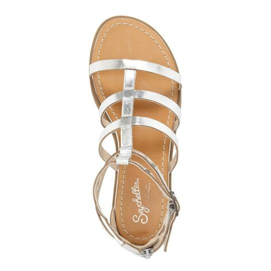1c9d9dd8d3ce6 Seychelles Silver Peachy Metalic Leather Gladiator Wedges Size US 8 ...
