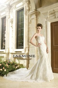 Jasmine Couture Bridal Ivory Lace/Satin T152060 Formal Wedding Dress Size 20 (Plus 1x)
