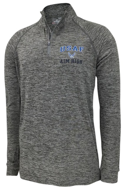 Under Armour Gray Air Force Aim High 1/4 Zip Tee (Grey) Women Activewear Size 16 (XL, Plus 0x) Under Armour Gray Air Force Aim High 1/4 Zip Tee (Grey) Women Activewear Size 16 (XL, Plus 0x) Image 1
