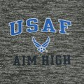 Under Armour Gray Air Force Aim High 1/4 Zip Tee (Grey) Women Activewear Size 16 (XL, Plus 0x) Under Armour Gray Air Force Aim High 1/4 Zip Tee (Grey) Women Activewear Size 16 (XL, Plus 0x) Image 2
