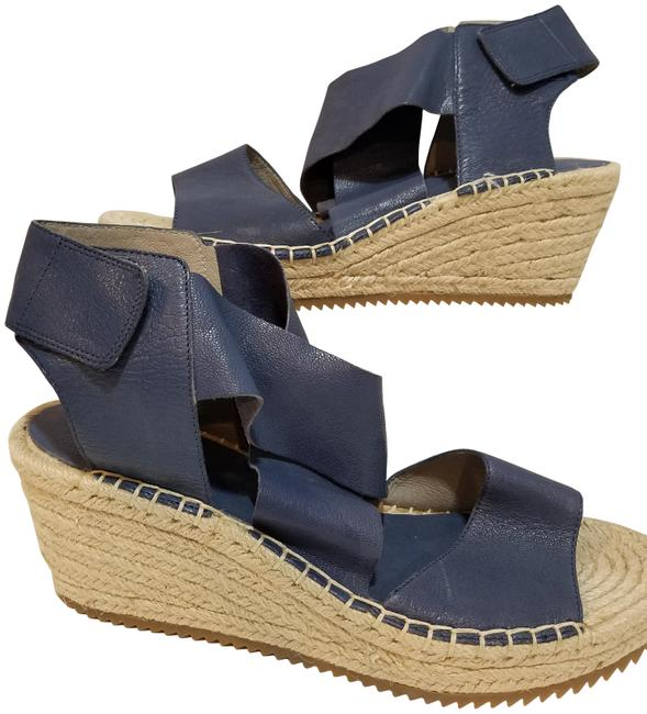 Item - Blue New Willow Leather Jute Wedge Sandals Size US 9 Regular (M, B)