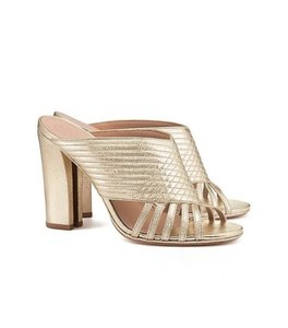 Tory Burch Sandal Metallic Resort Gold Mules