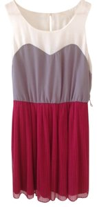Rewind short dress Pink, white, grey on Tradesy