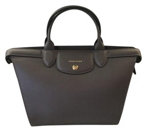 Longchamp Cowhide Leather Tote in Grey