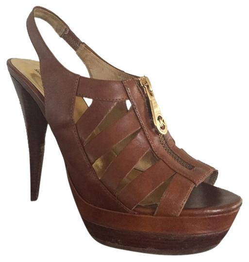 Michael Kors Brown Platforms