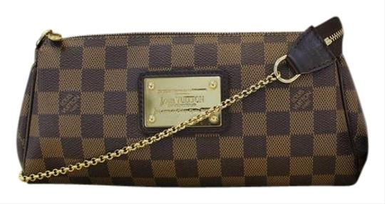 877583161114 Louis Vuitton Damier Ebene Eva Clutch Brown Cross Body Bag on Tradesy