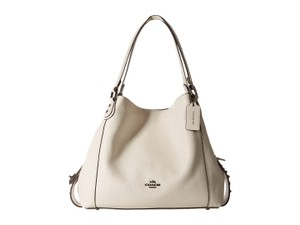 Coach Leather Edie 31 Rivets White Shoulder Bag