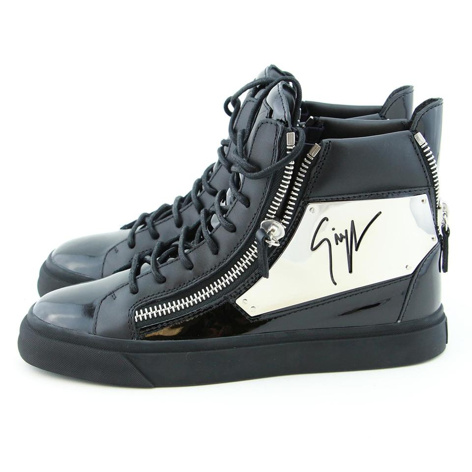 21a5ea94023625 Giuseppe Zanotti Sneakers High-top Sneakers High-top Wedge Sneakers White  Black Athletic Image ...