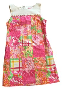 Lilly Pulitzer short dress pink floral Sz8 on Tradesy