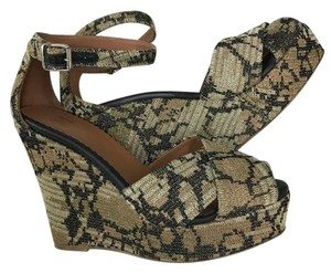 M Missoni Metalic Black and Gold Wedges