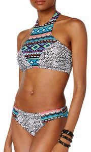 Hula Honey Desert Daze Printed High Neck Bikini Top and Bottoms
