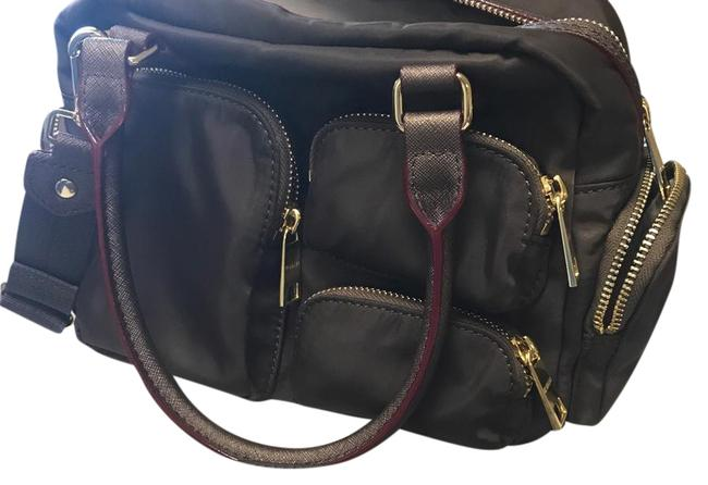 Item - Brown Nylon with Leather Trim Satchel