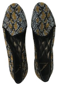 Brian Atwood Crystal Quilted Slipper black Flats
