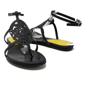 Alexander McQueen Skulls Rock Summer Fendi Cut-out Black Sandals