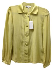 Angel Schlesser Silk European Nwt Top Lime Green