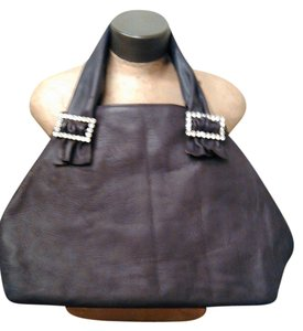 Tracey Vest Sexy Cool Tote in Distressed Chocolate Brown Leather