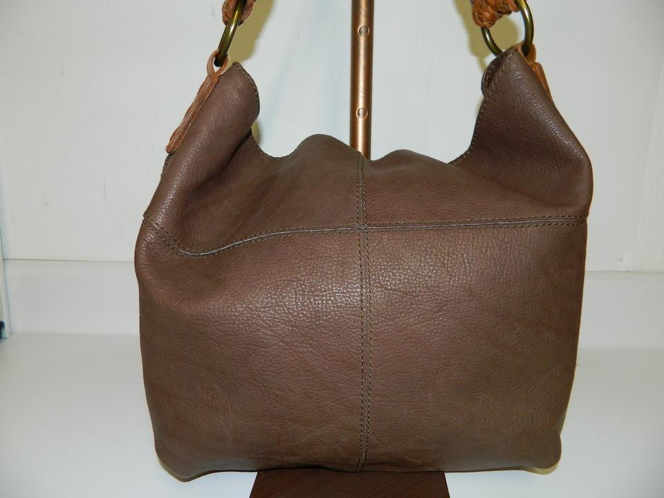04f0835dc4 Lucky Brand Pebbled Vintage Inspired Brown Leather Hobo Bag - Tradesy