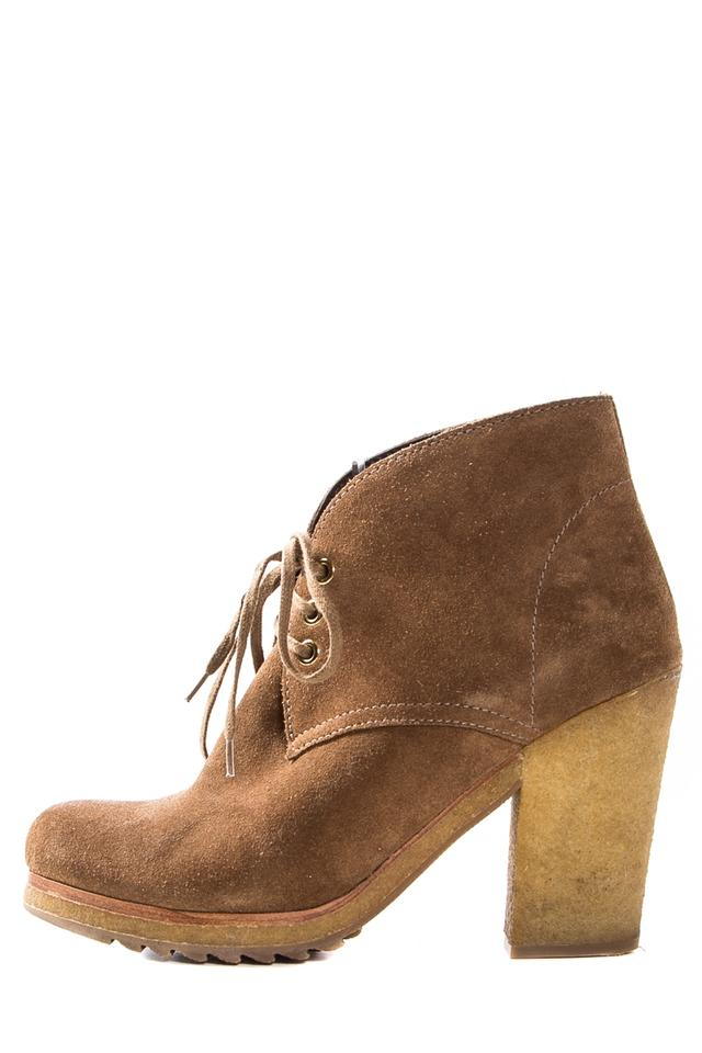 MISS Prada Tan Suede Round price Boots/Booties Cheaper than the price Round e8ab64