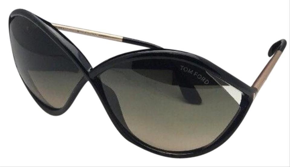 ad44d55cc2ef3 Tom Ford New Liora Tf 528 01b 70-5 Black   Gold Frame W  Green Fade ...