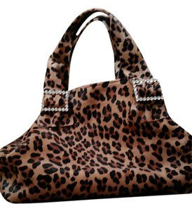 Tracey Vest Glamorous Sexy Over The Top Tote in Leopard Calfhair