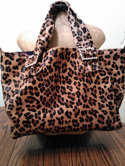 Tracey Vest Glamorous Sexy Over The Top Functional Oversized Tote in Leopard Calfhair