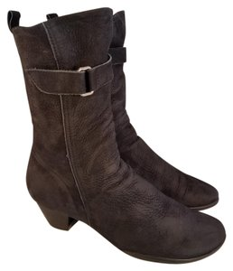 Arche Made In France Side Zipper Nubuck black Boots