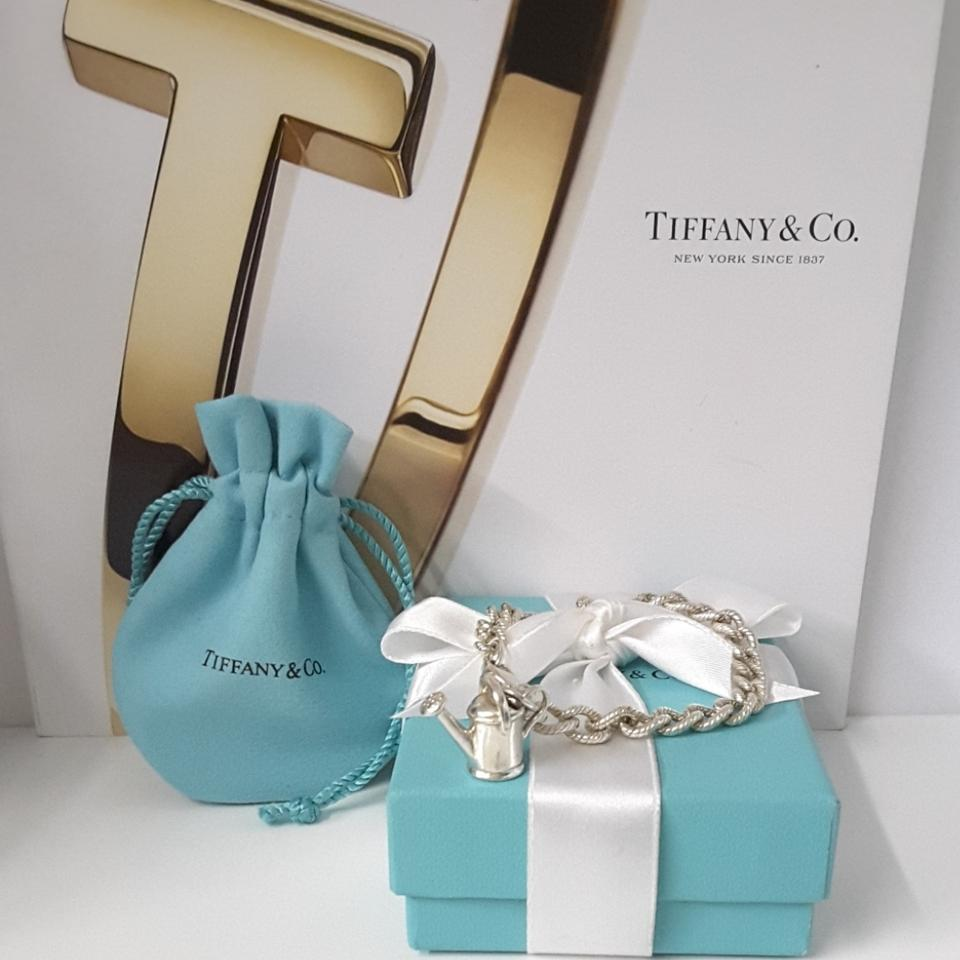 Tiffany & Co. Sterling Silver Watering Can Cable 1/2in. Bracelet ...