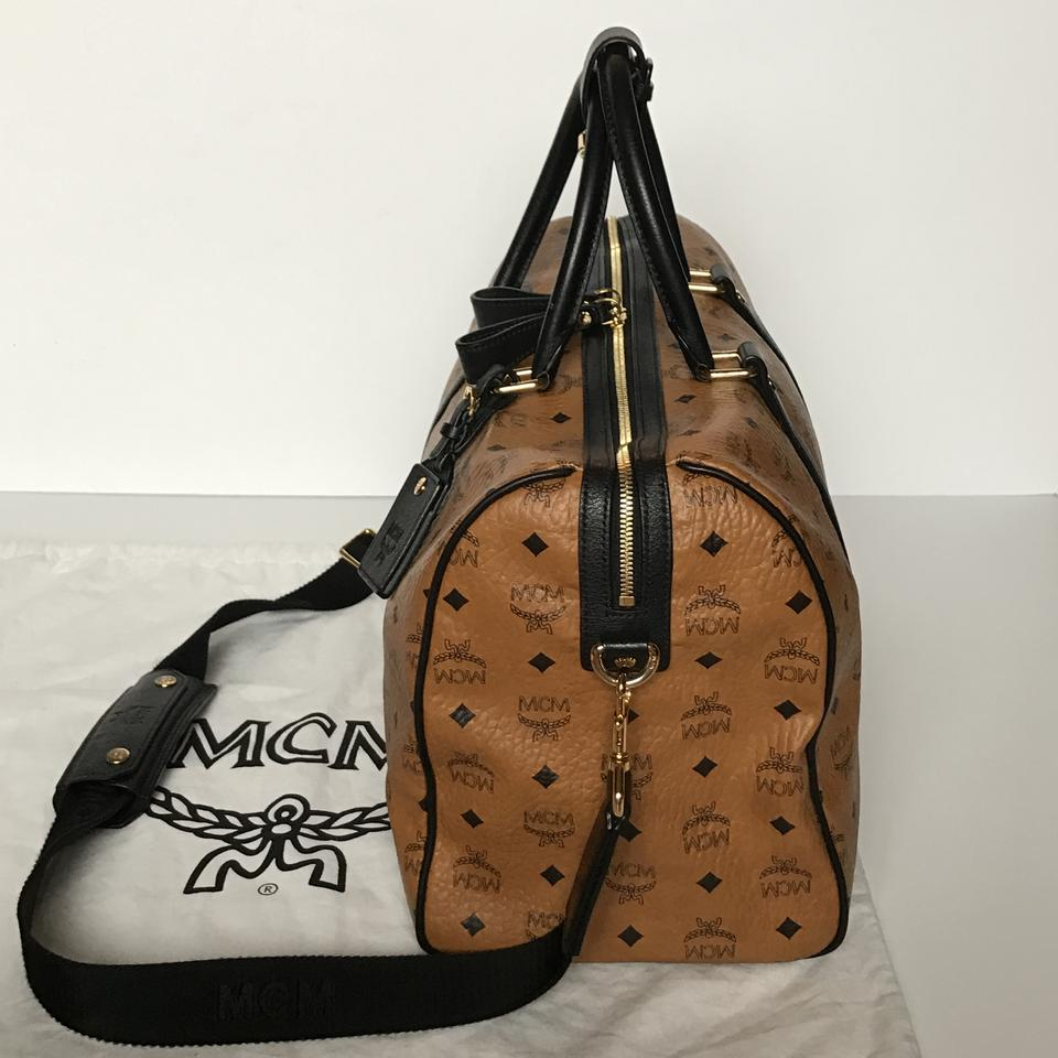 MCM Heritage Collection Duffle Cognac Visetos Leather Canvas Weekend Travel  Bag - Tradesy 9d2b61a2f7574