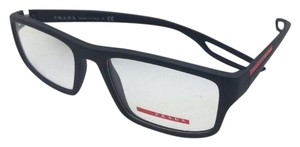 Prada New PRADA Eyeglasses VPS 09G DG0-1O1 53-18 140 Rubberized Black & Red