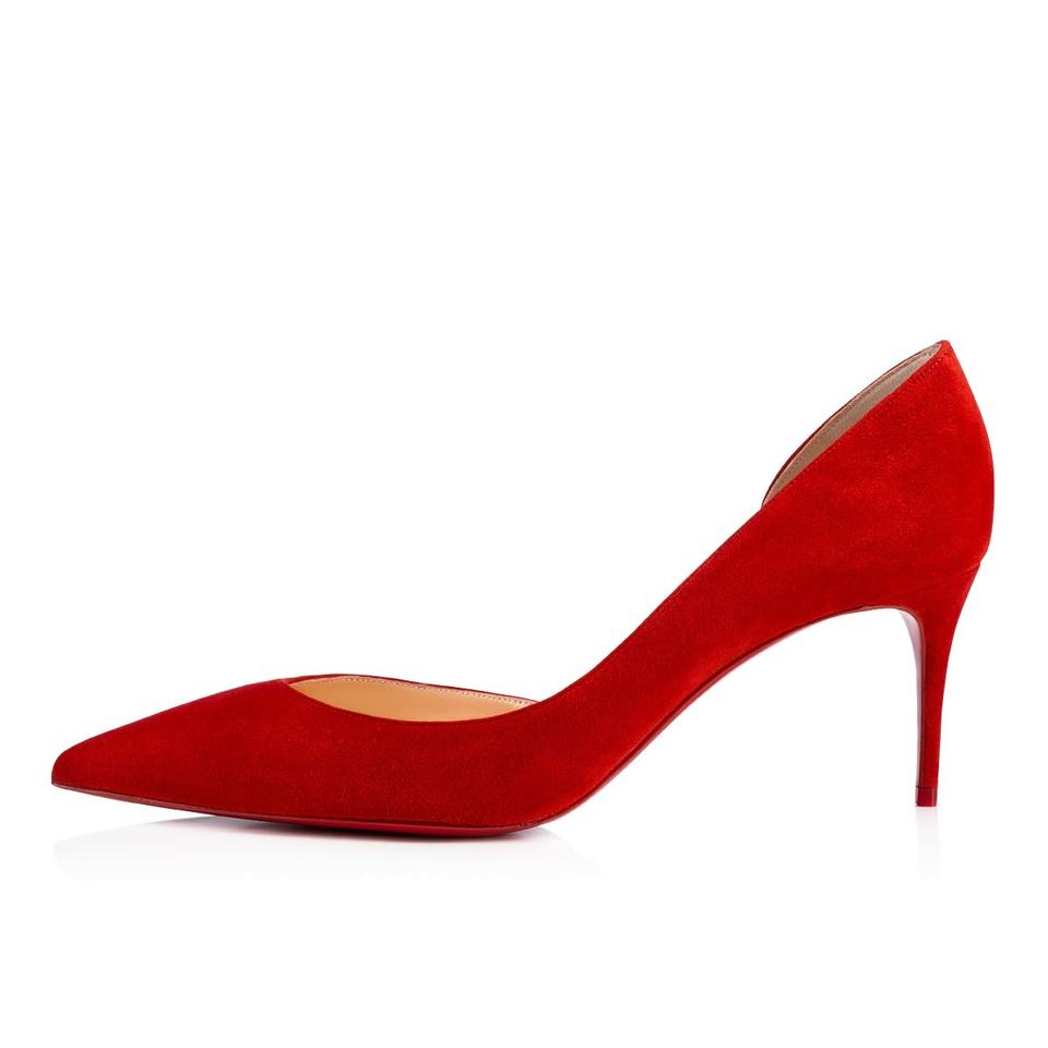 timeless design 29a2e d0337 Red Iriza 70mm Suede Pumps