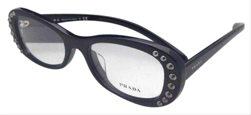 479808fb83c3 Prada New Vpr 21r-f 1ab-1o1 53-19 140 Shiny Black Frame Asian Fit ...