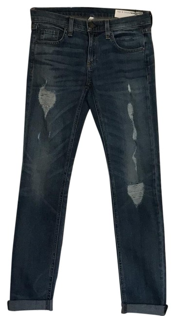 Item - Light Denim Distressed Dre Straight Leg Jeans Size 24 (0, XS)