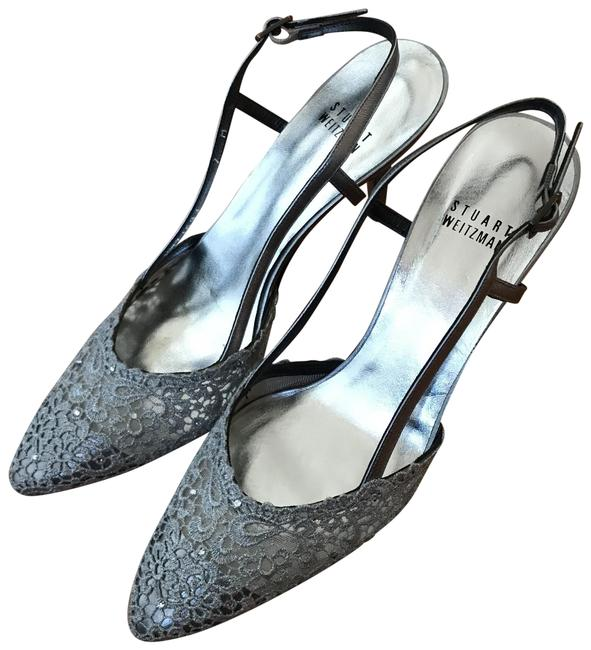 Item - Silver Lady Lace Evening Sneakers Size US 7 Regular (M, B)