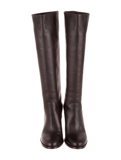 Jimmy Choo Tall Leather Black Boots