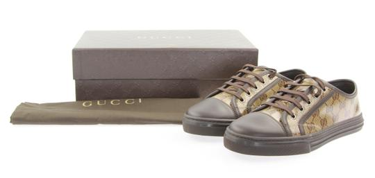 Gucci Monogram Sneakers Gg Low-top Brown Athletic