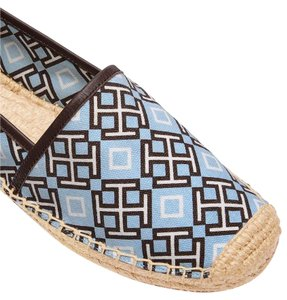Tory Burch Embroidered Espadrille Comfortable Limited Edition 4t Printed Blue Flats