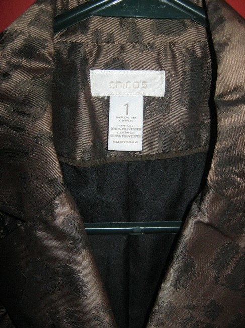 Chico's Brown metallic Blazer