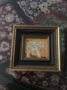 Bergdorf Goodman Vintage Oil Painting Gold Frame Decoration