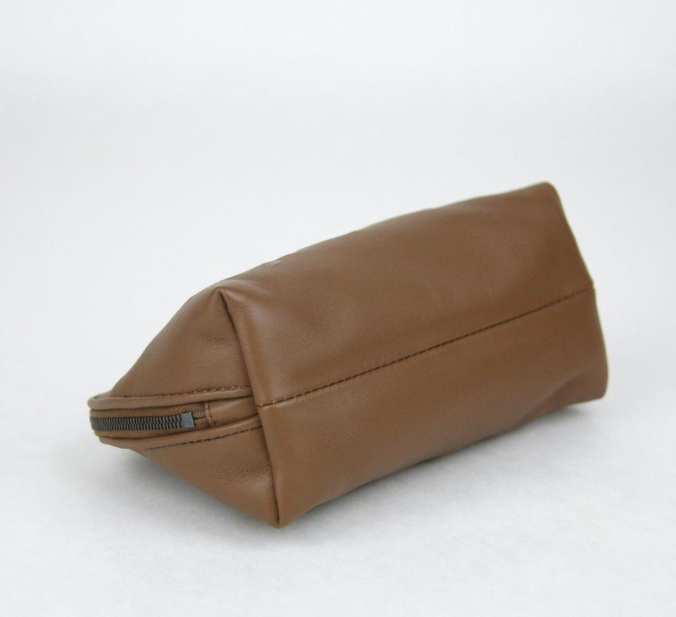 Bottega Veneta BOTTEGA VENETA Leather Cosmetic Case Pouch Bag Brown 132534  2517. 123456789 8426cae4b3d04
