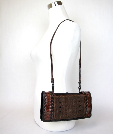89c21f3c0d5a Bottega Veneta Evening Handbag 304460 6391 Brown Python Shoulder Bag 64%  off retail