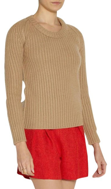 Item - XS Womens Chunky Knit Cashmere Camel Sweater