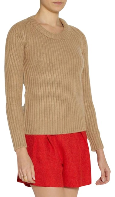 Item - Womens Chunky Knit Cashmere Large Camel Sweater