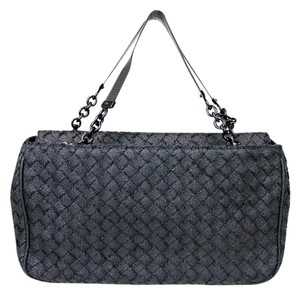 Bottega Veneta Intrecciato Evening Tote in Black
