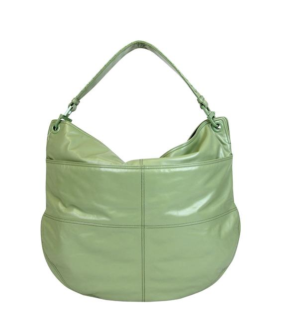 Item - W W/Woven Detail 309343 3414 Green Leather Hobo Bag