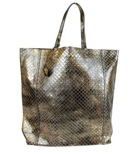 Bottega Veneta Intrecciomirage Gold/Black 298779 Tote in Gold/Black