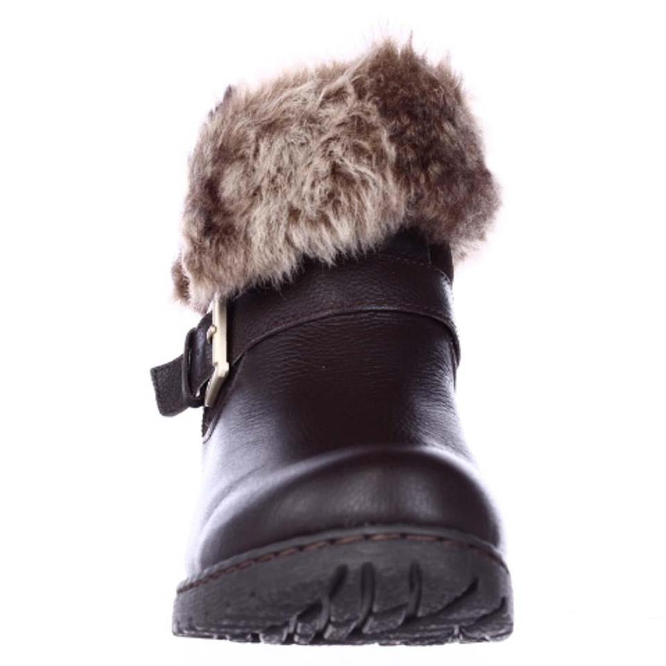 B?rn Brown B.o.c. Lined Concept Salas Faux Fur Lined B.o.c. Winter Ankle Dark Bro Boots/Booties 4dbcf1