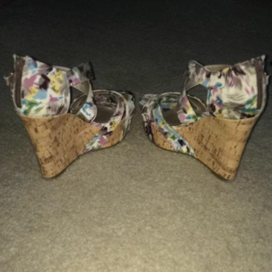 Guess Floral Print Wedges